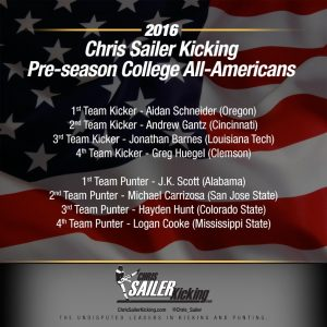 2016 Pre-Season College All-Americans