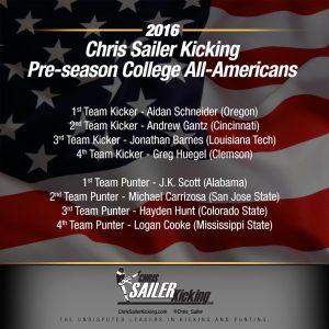 2016 Pre-Season College All-Americans