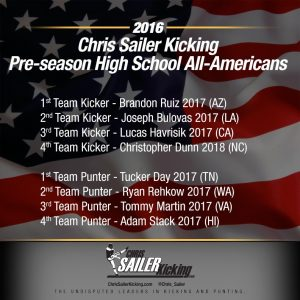2016 Pre-Season High School All-Americans
